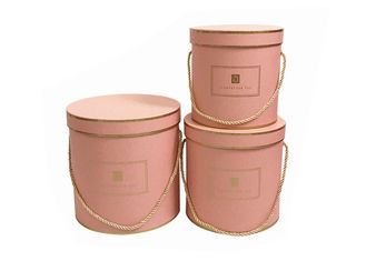 Chine Round Paper Florist Hat Boxes , Luxury Cylindrical Flower Packaging Boxes fournisseur