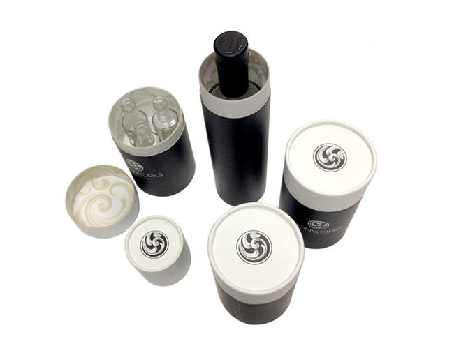 OEM Embossing Round Cardboard Tubes For Cosmetic / Skincare / Candle Packaging